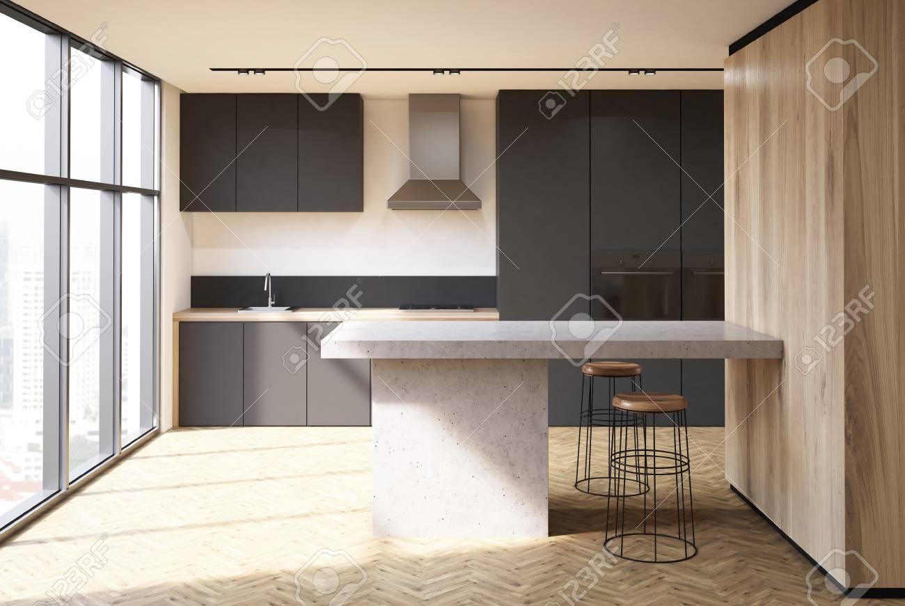Weiße Küche Schwarze Arbeitsplatte   Projekt 06 Innenausbau ...