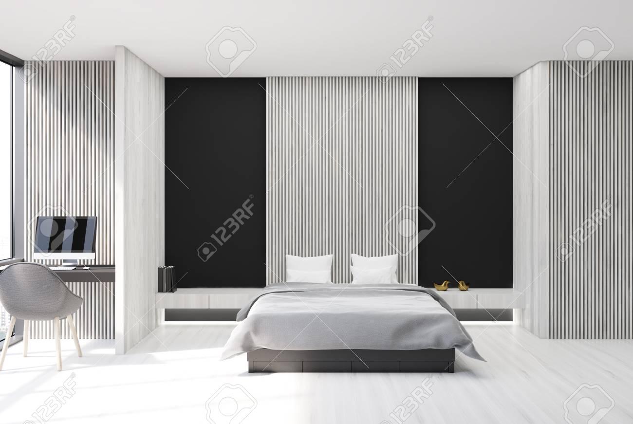 Chambre Moderne Noir Et Blanc | Attrayant Deco Couloir Peinture Avec ...
