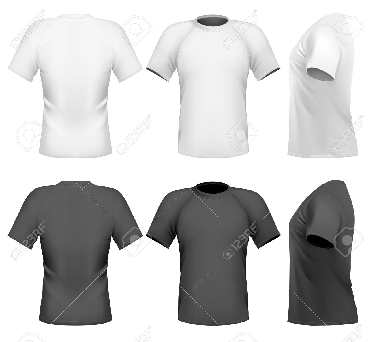 Black t shirt design template - Black T Shirt Front And Back Template Men S T Shirt Design Template Front Back And Download