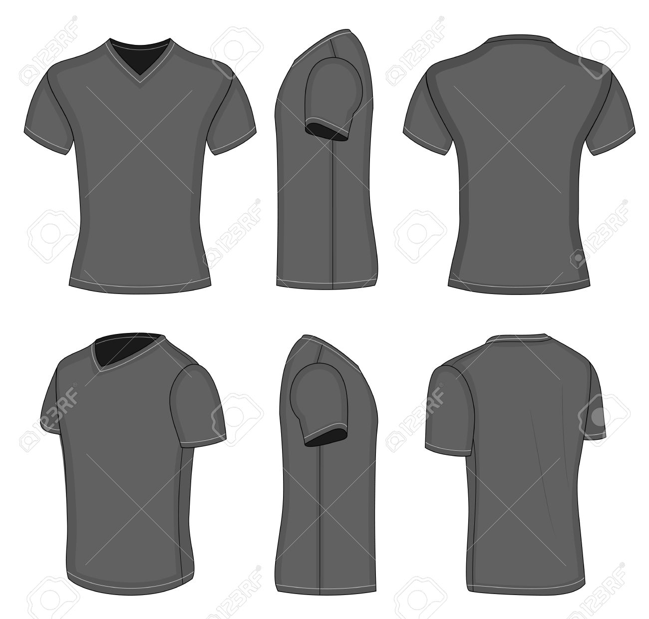 Black t shirt front and back - Black T Shirt Back And Front Template All Views Men S Black Short Sleeve T Download