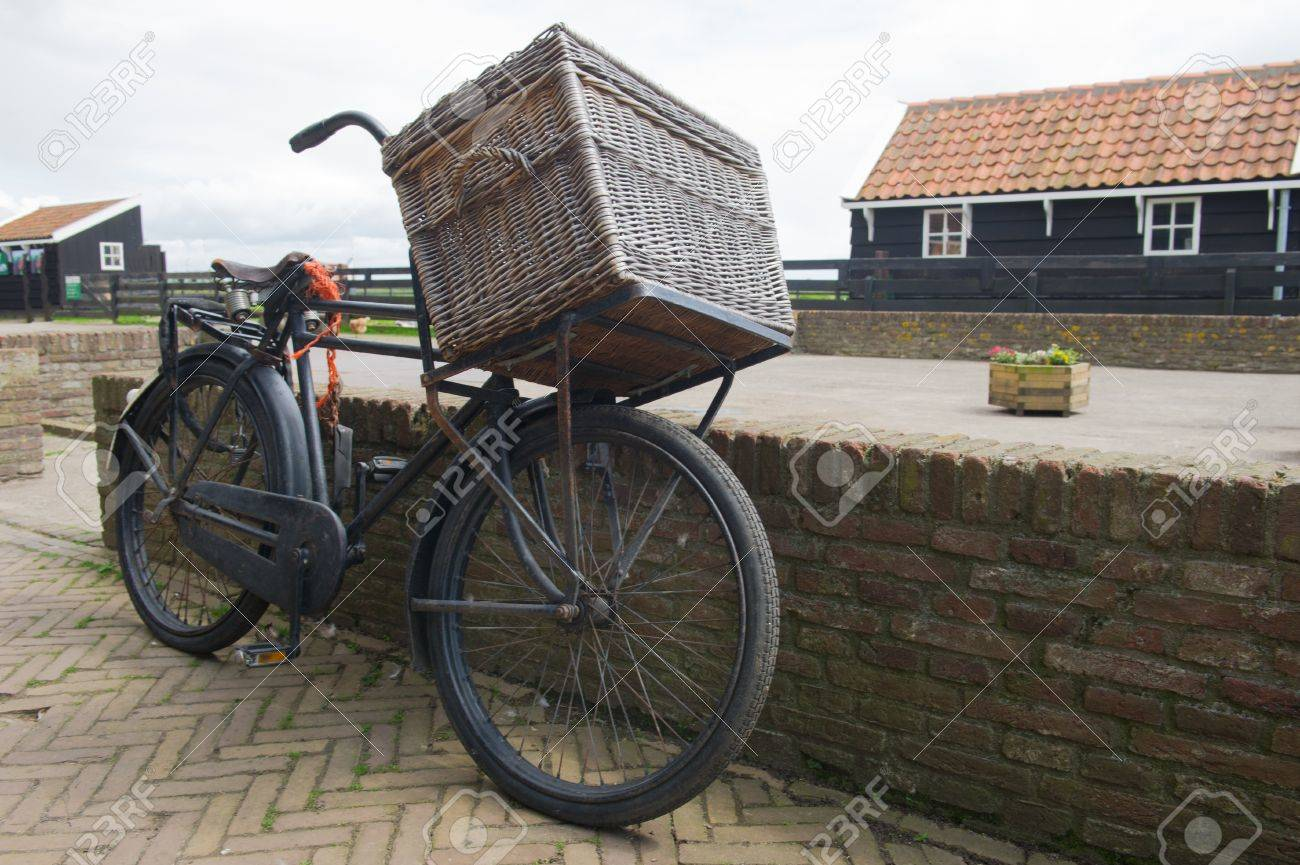 Bike Basket Big W Typical Old Dutch Transport Bike With Big Basket
