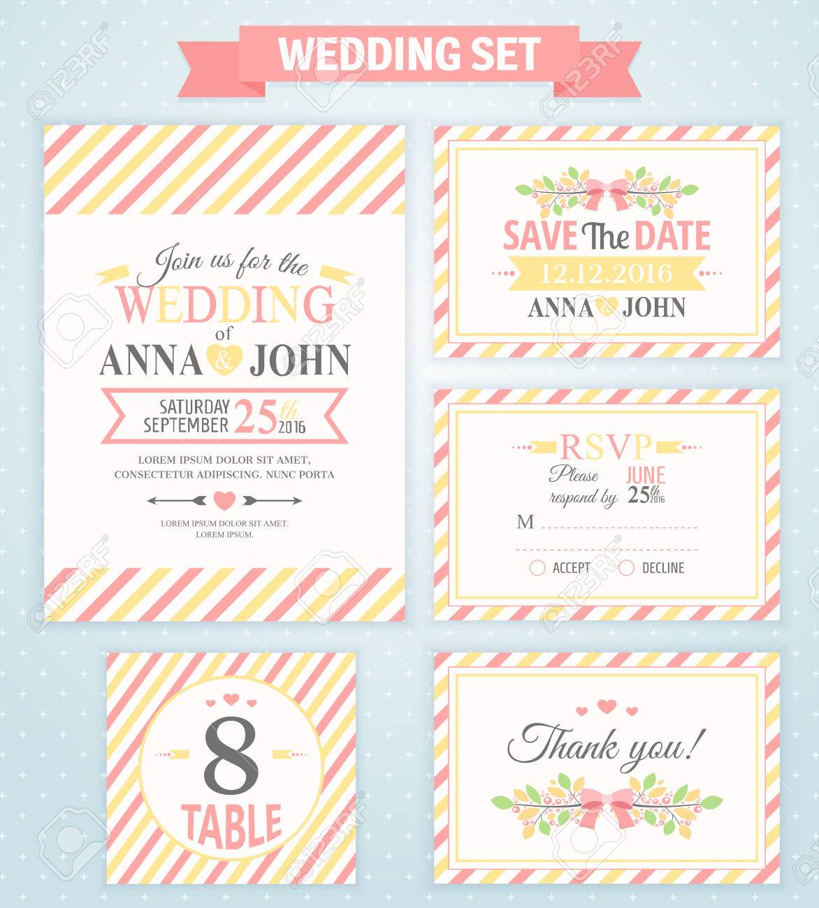 Rsvp Bruiloft Wedding Invitation Template Thank You Card Save The Date Rsvp