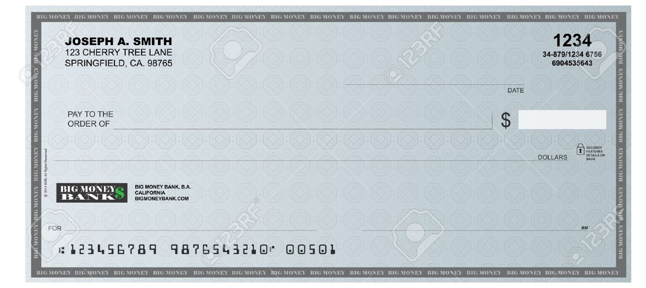 A Realistic Representation Of A Blank Check Royalty Free Cliparts