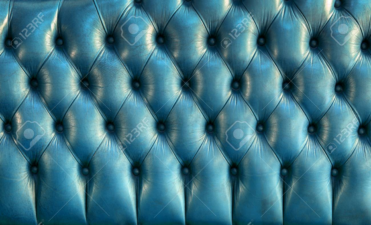 Retro Inflatable Sofa Blue Leather Texture Of Vintage Sofa Retro Background