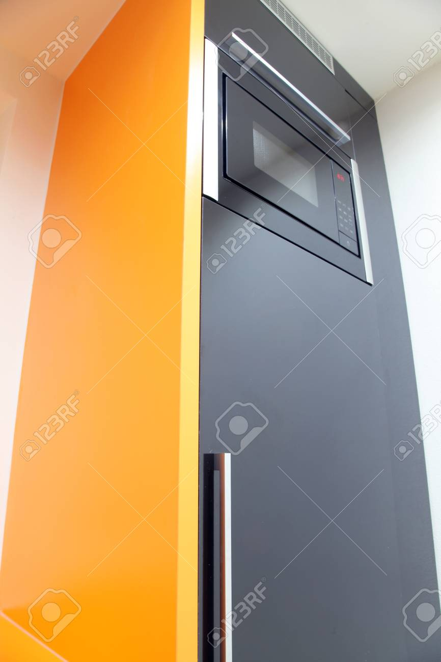 Orange Küche Moderne Küche In Schwarz Und Orange