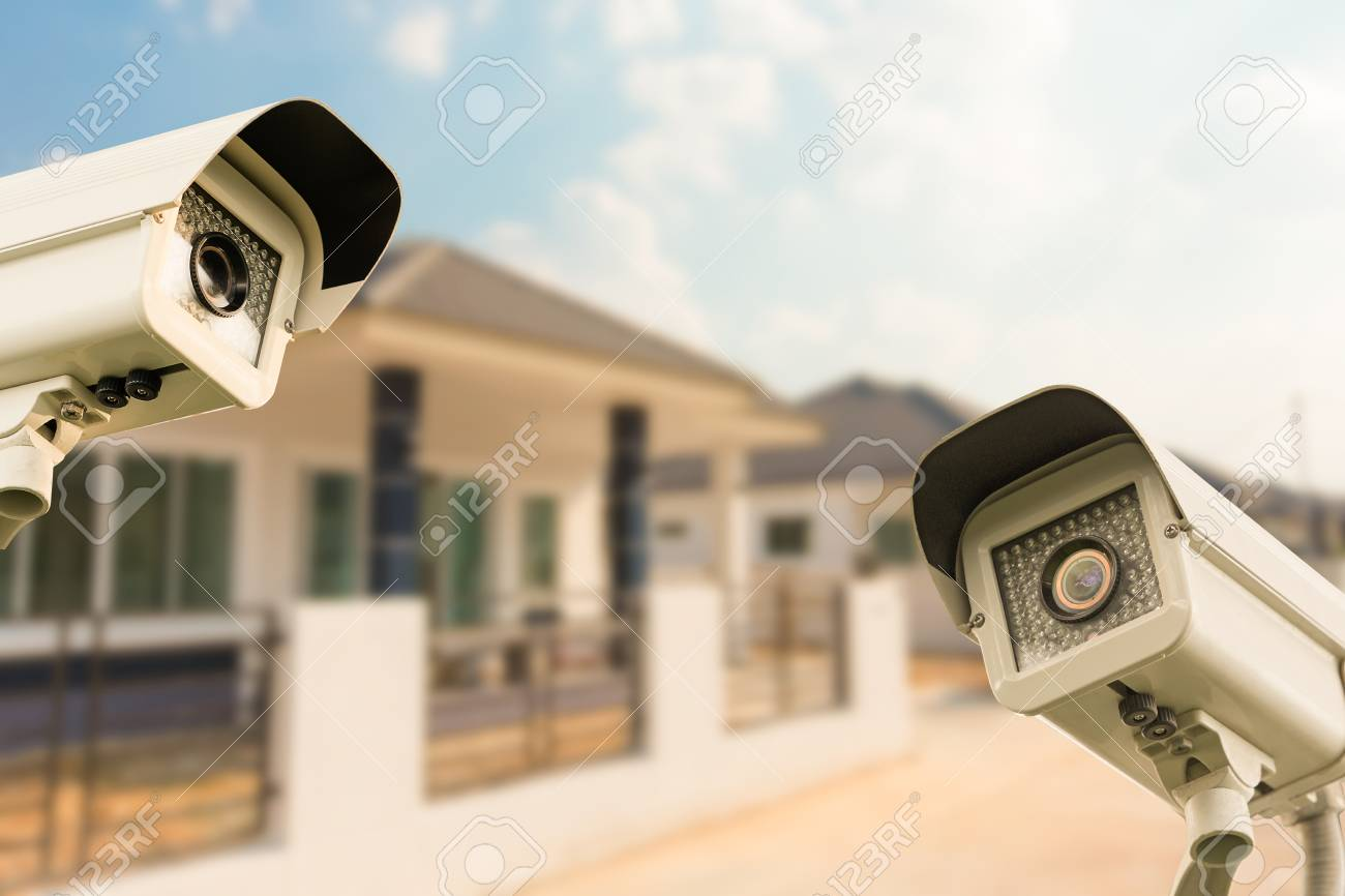 Cctv Home Cctv Home Camera Security Operating At House