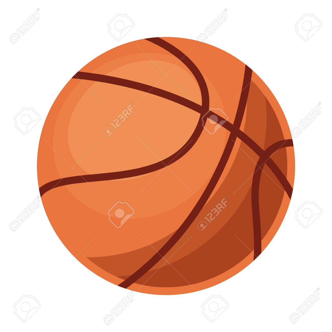 Basketball Ball Basketball Ball Icon Over White Background