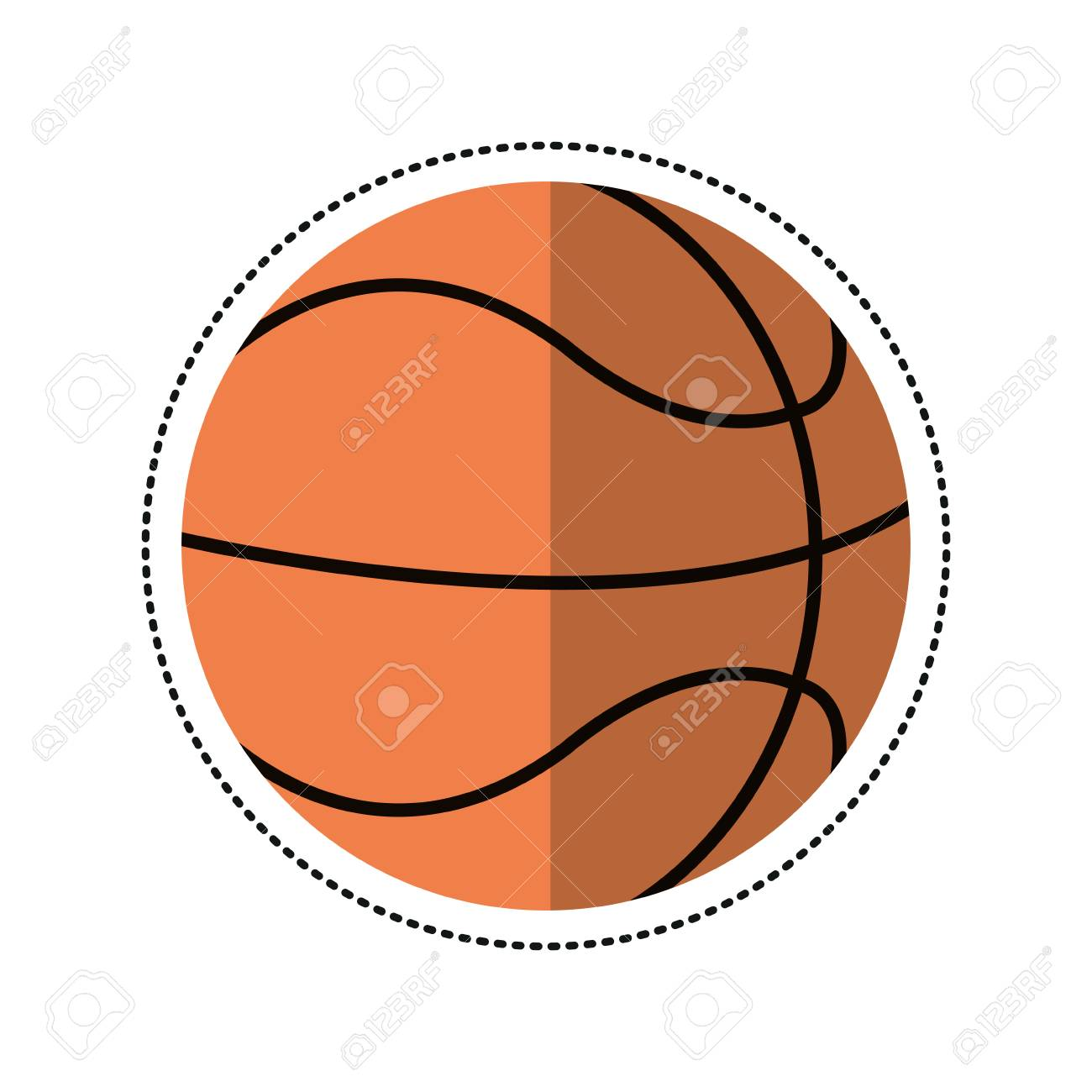 Basketball Ball Cartoon Basketball Ball Play Vector Illustration Eps 10