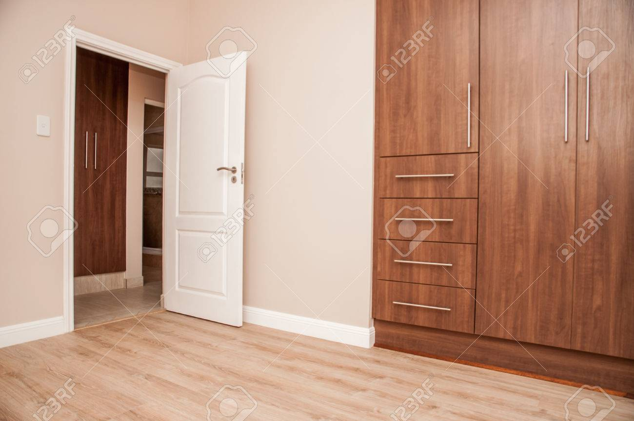 Schlafzimmer Laminat Stock Photo