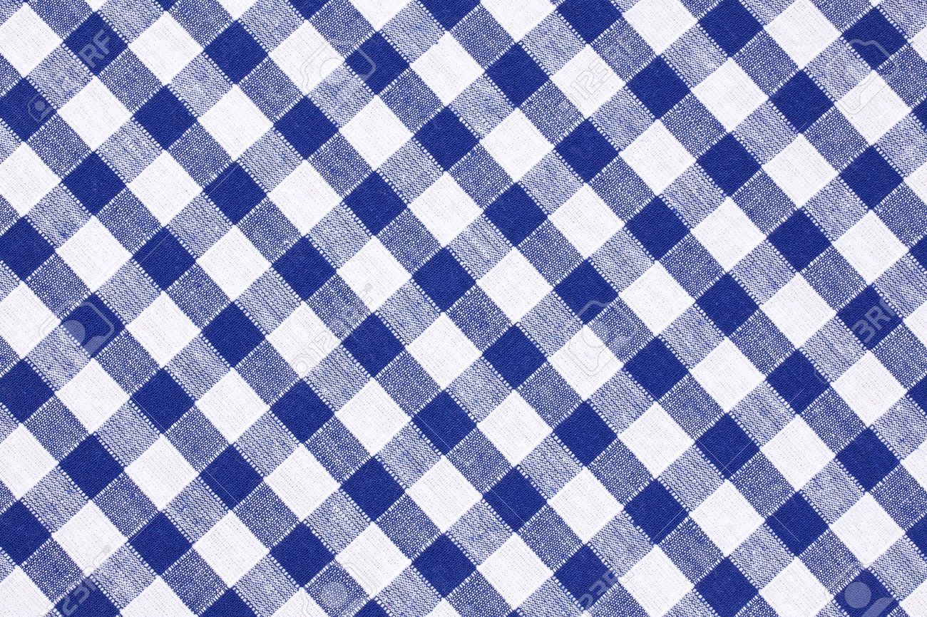 Shot of the blue checkered tablecloth stock photo 7266621