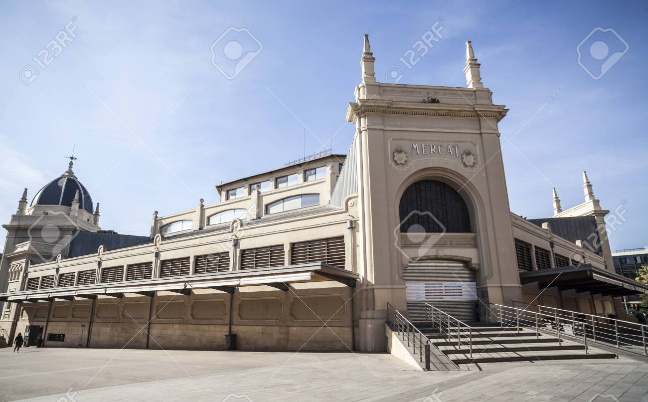 Sabaedell Sabadell Spain February 22 2017 Central Market Building Sabadell Catalonia Spain