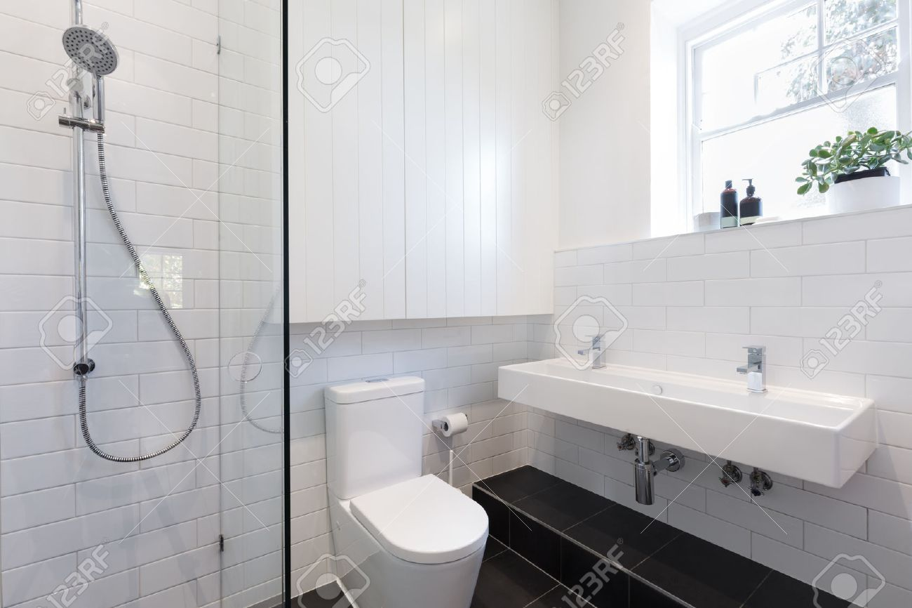 Badezimmer Muster Stock Photo