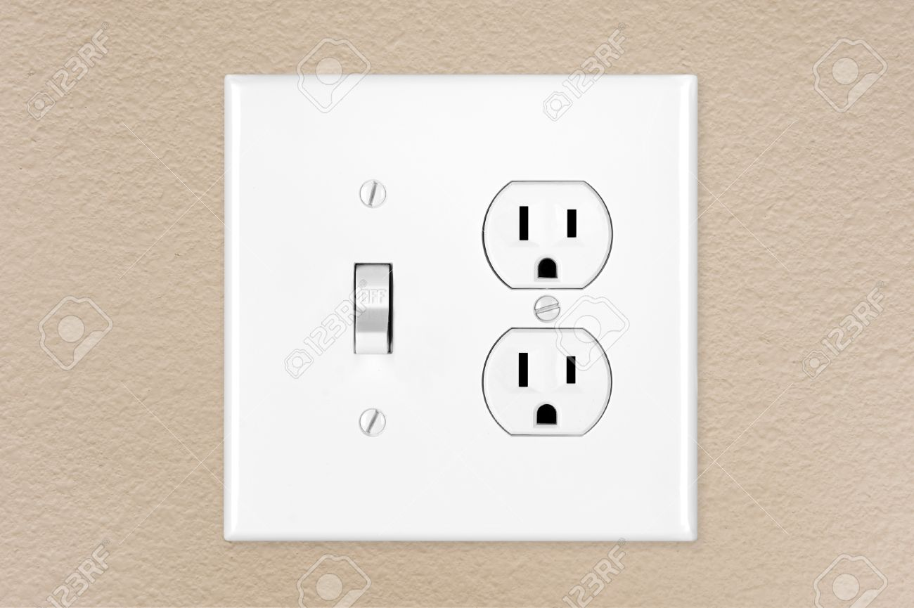 Contemporary Electrical Outlets A Brand New Modern Electrical Toggle Light Switch And Power Outlet