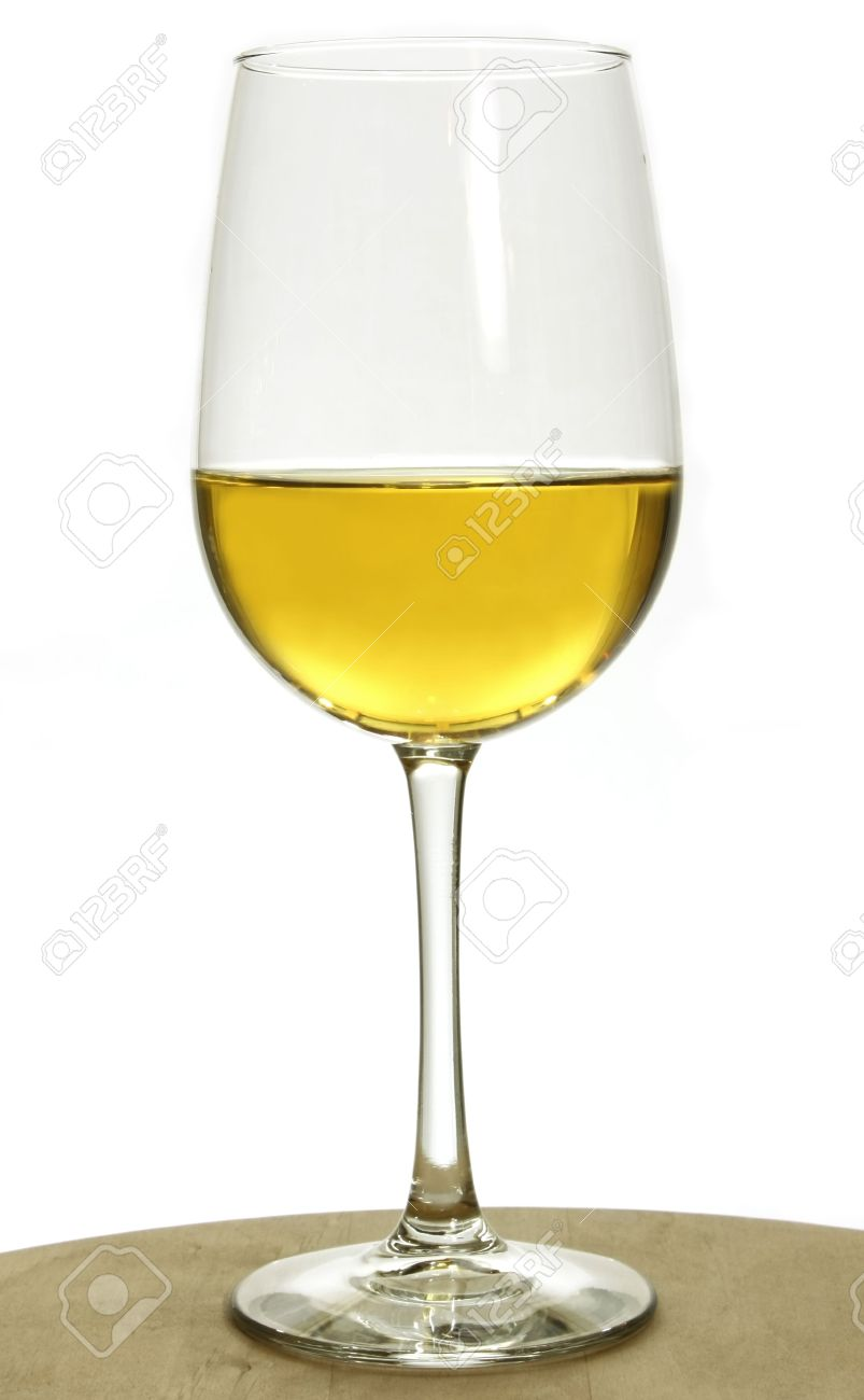 Chardonnay Wine Glass Single Glass Of Chardonnay White Wine