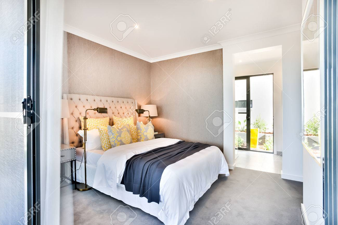 Moderne Schlafzimmer Bilder Stock Photo