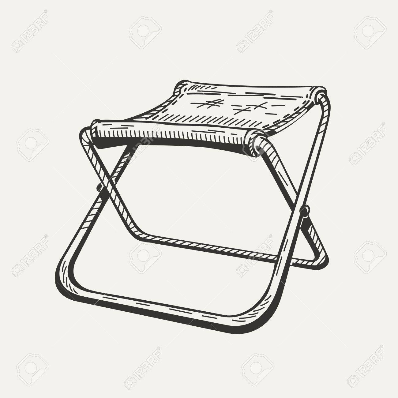 Sedia Bar Sport Illustration Of Isolated Folding Camp Chair On White Background