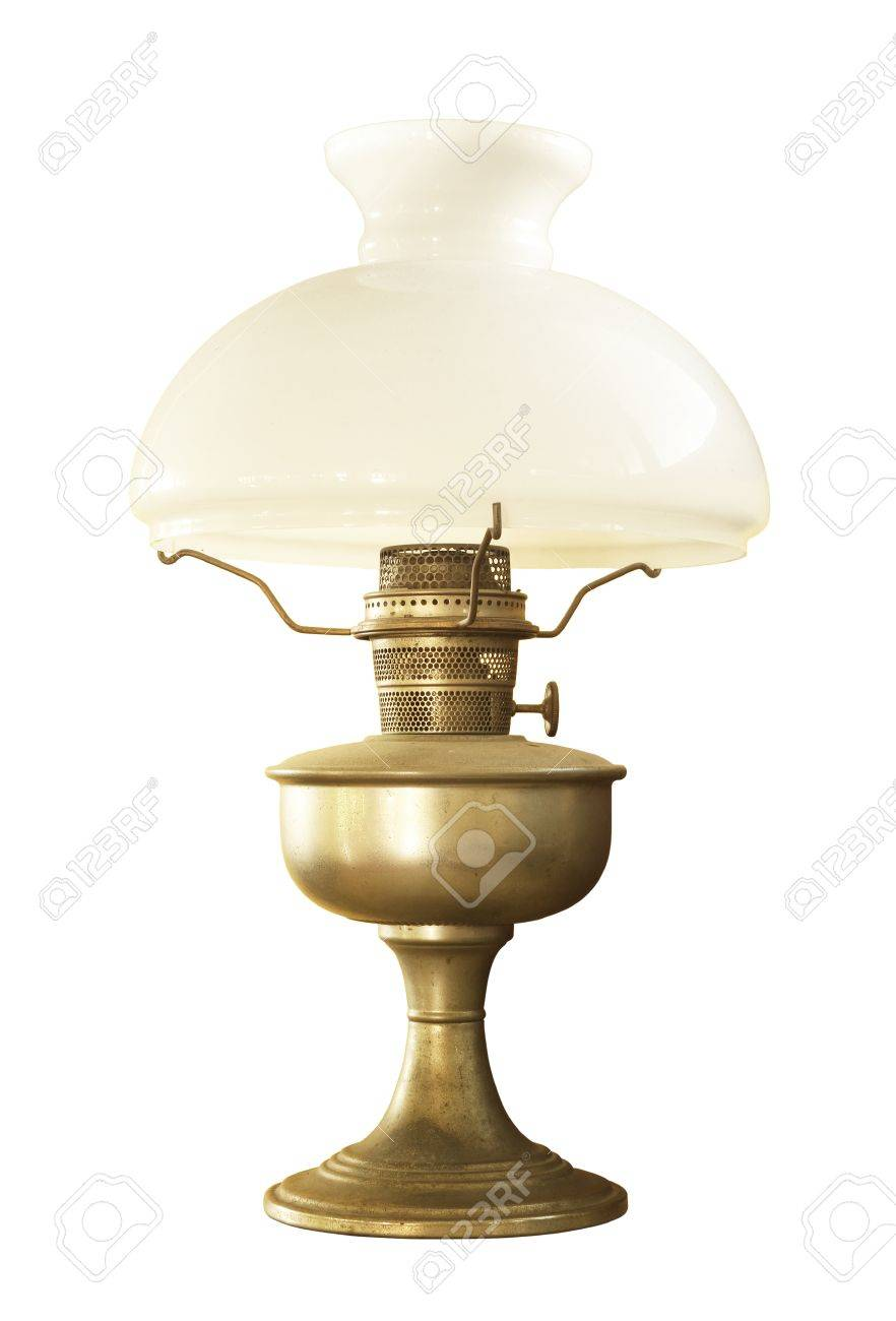 Antike Tischlampen Stock Photo