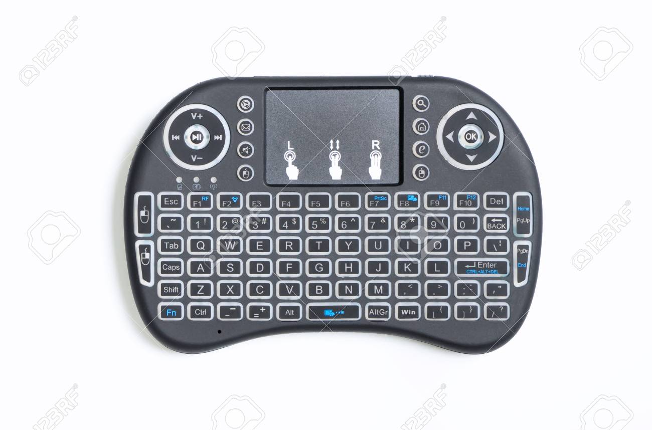 Box Bluetooth Portable Wireless Bluetooth Keyboard Pad And Remote Controller