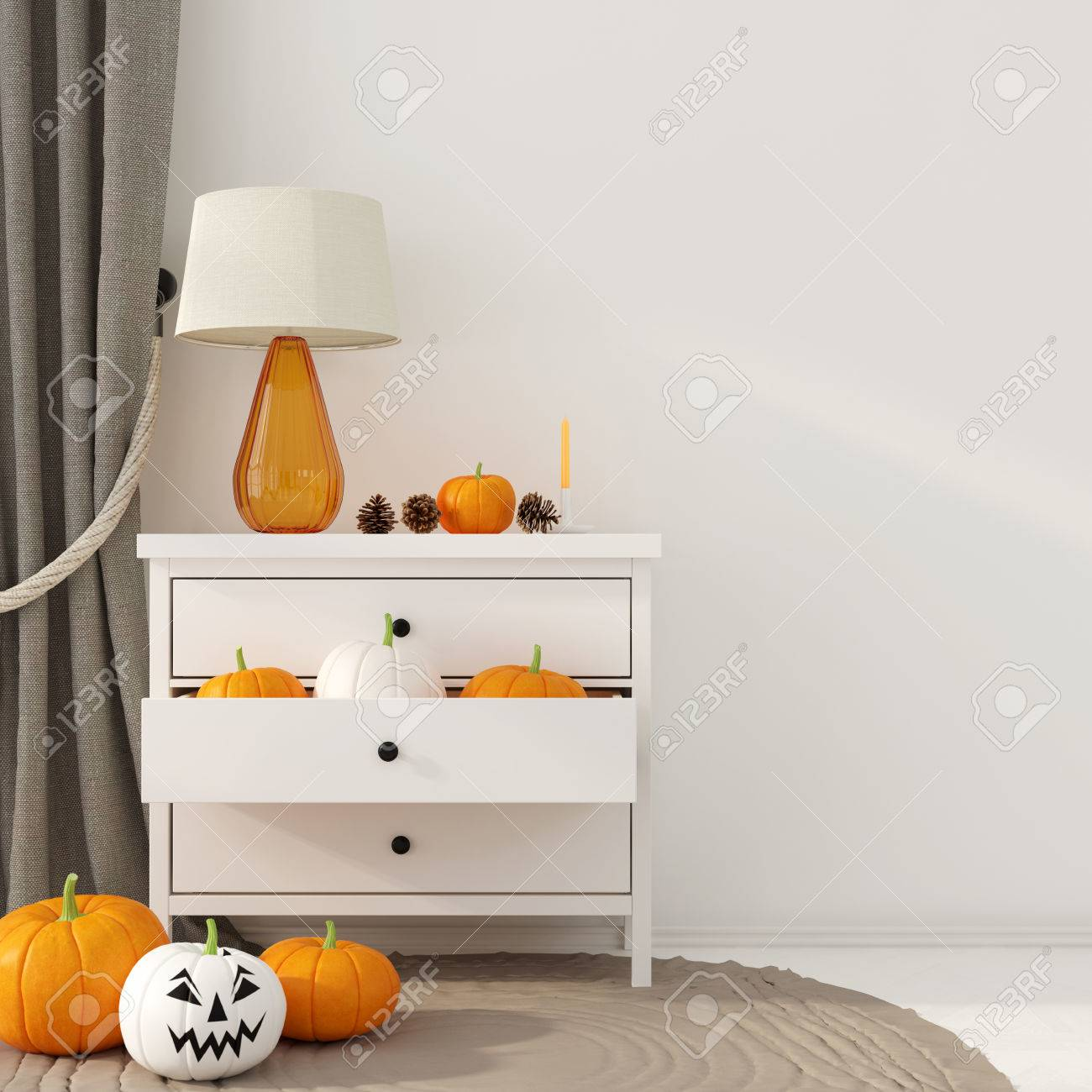 Halloween Decoration Interieur Interior Decoration For Halloween Small White Dresser With