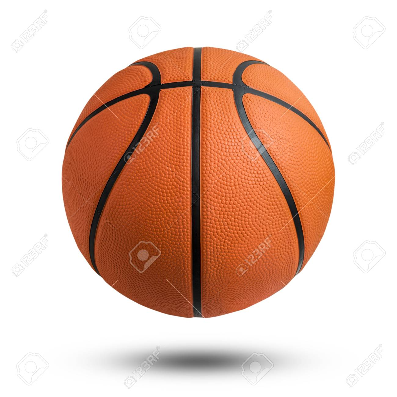 Basketball Ball Basketball Ball Over White Background Basketball Isolated Orange