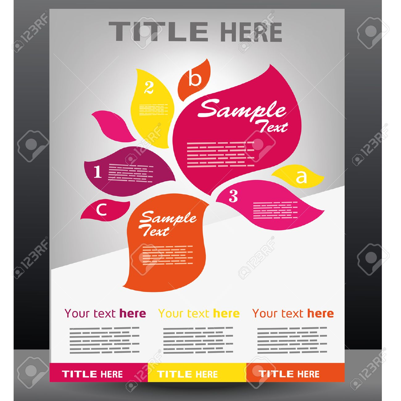 Poster design sample -  Poster Design Template Stock Download