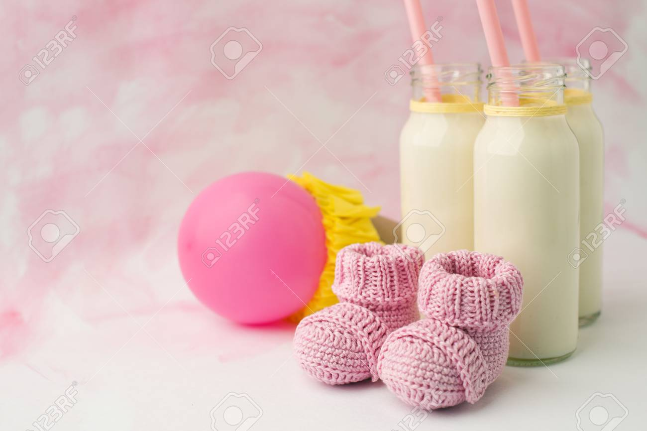 Milk Bottles For Decoration Idea Decoration For Baby Shower Party On Table Milk Bottles