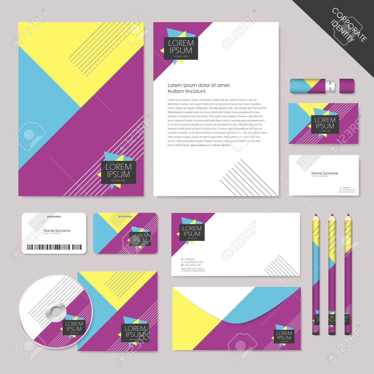 Corporate Graphic Design Abstract Corporate Identity Set Graphic Design Of Geometry Colorful