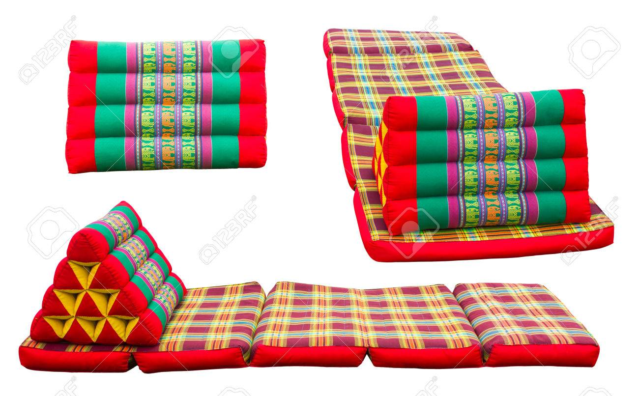 Foldable Mattresses Isolates Folding Mattresses And Pillows With Patterned Thailand