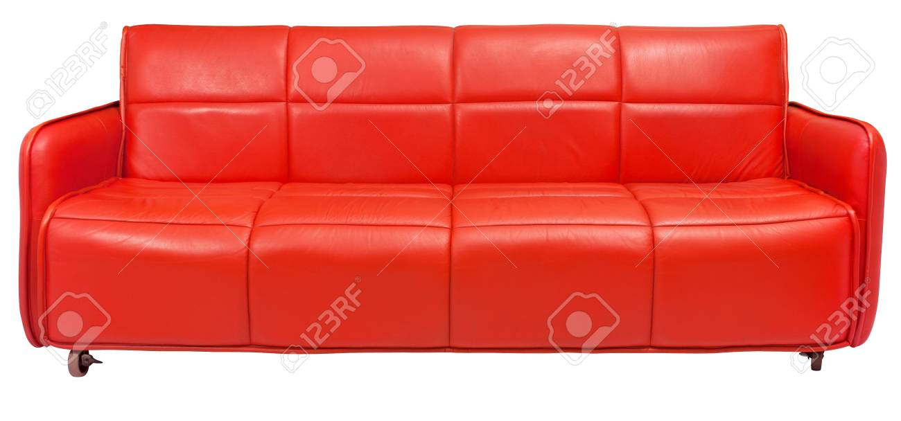 Retro Inflatable Sofa Red Retro Couch On White