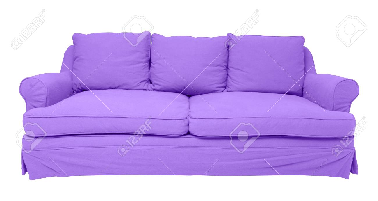 Simply Modern Purple Sofa Isolated On White Stock Photo Picture And Royalty Free Image Image 21652338