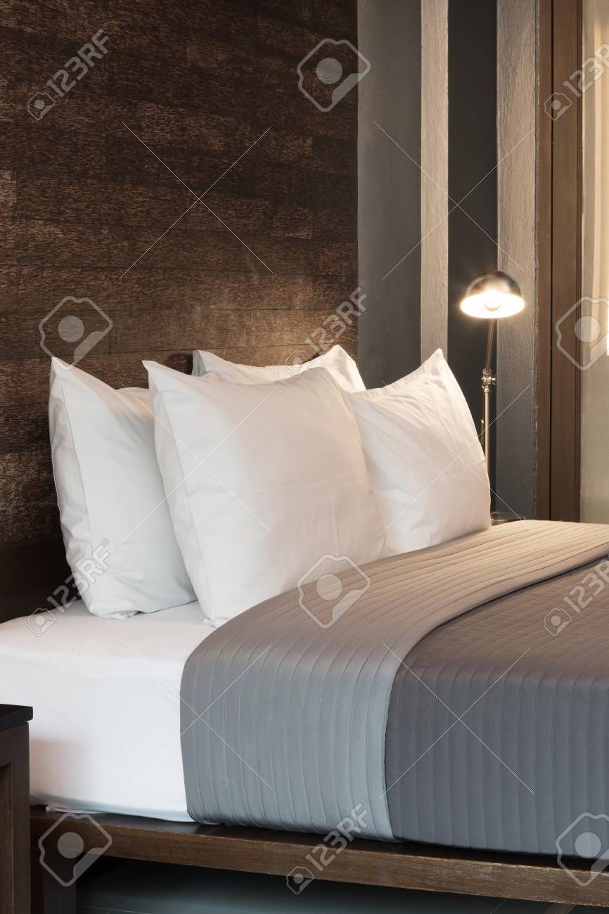 Farbe Schlafzimmer Holz Stock Photo