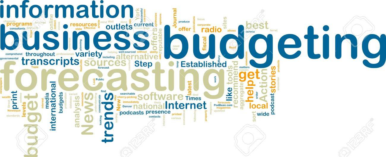 Word Cloud Tags Concept Illustration Of Financial Budgeting Stock