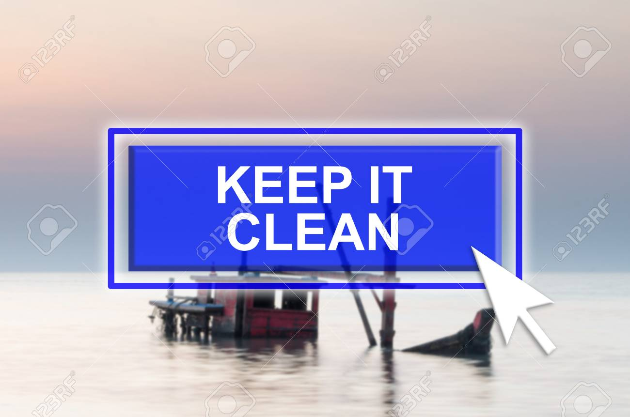 Keep It Clean Natural Environment Background With Blue Button Mouse Pointer
