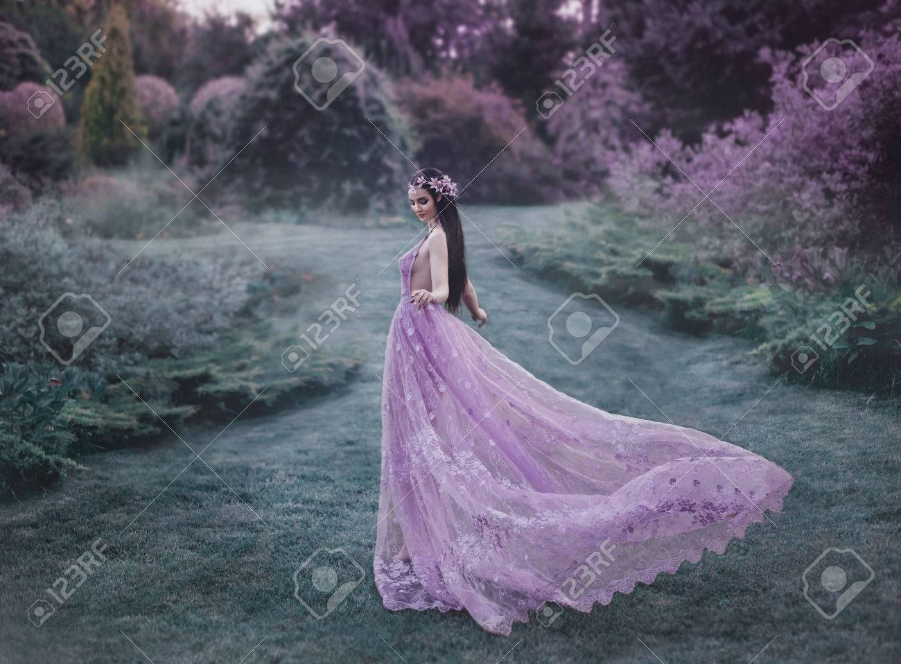 Luxurious Fantasy Girl A Fantasy Girl A Fairy Young Elf A Purple Fairy Garden Railroad Archerfield Walled Garden Fairy Training A Purple Dress A Fairy Young Elf garden Fairy Garden Train