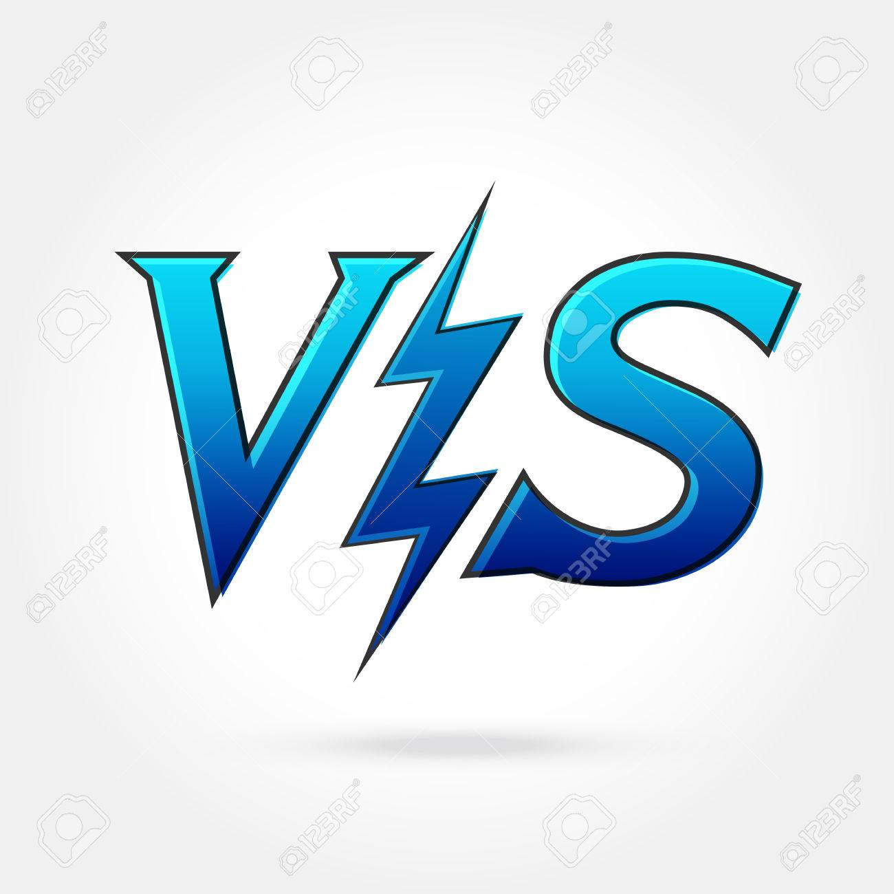 / Vs Versus Letters Or Vs Logo Isolated Flat Style Modern Logotype