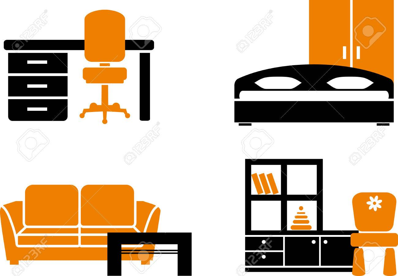 Sofa Set Vector Png Icon Set Home Furniture Items