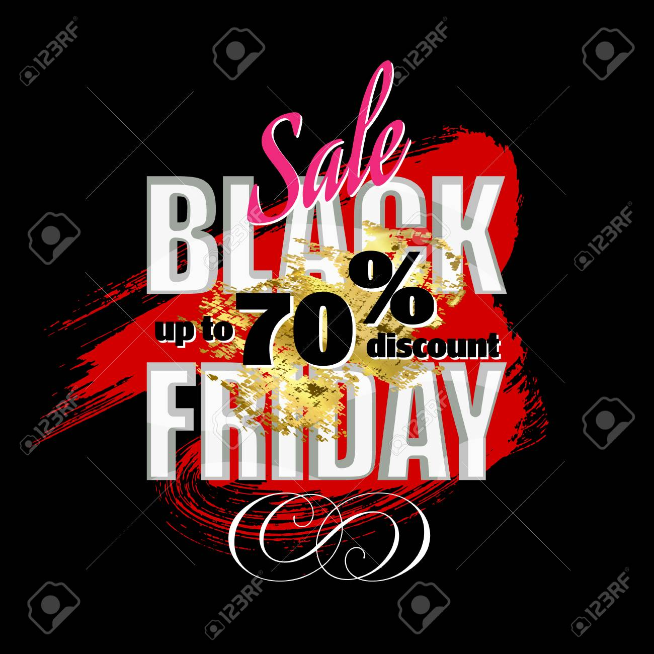 Black Friday Rabatte Black Friday Sale The Banner Template Design Discounts Of Up
