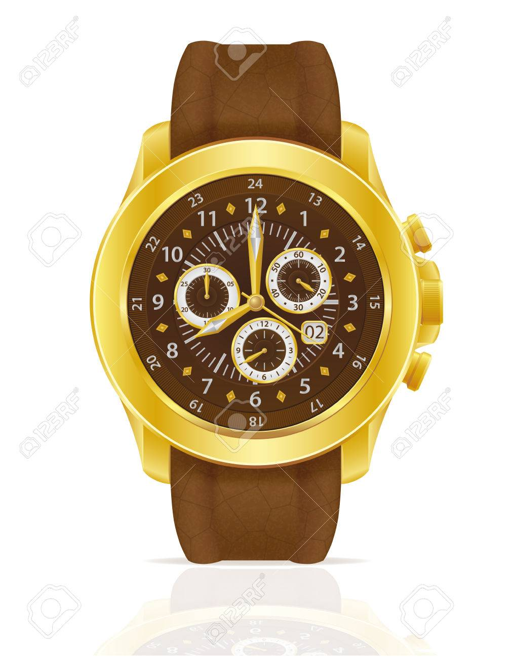 Lederband Für Uhr Stock Photo
