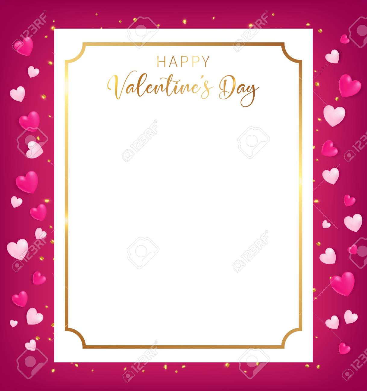 Art Decoration Conception Happy Valentine S Day Banner Conception As Top View Position