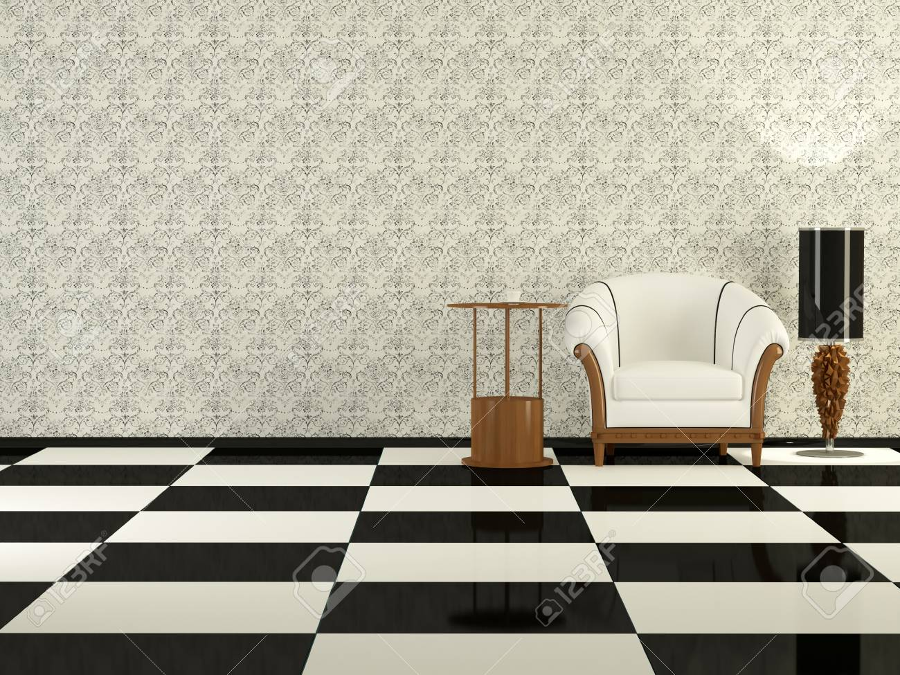 Sessel Wohnzimmer Design Stock Photo