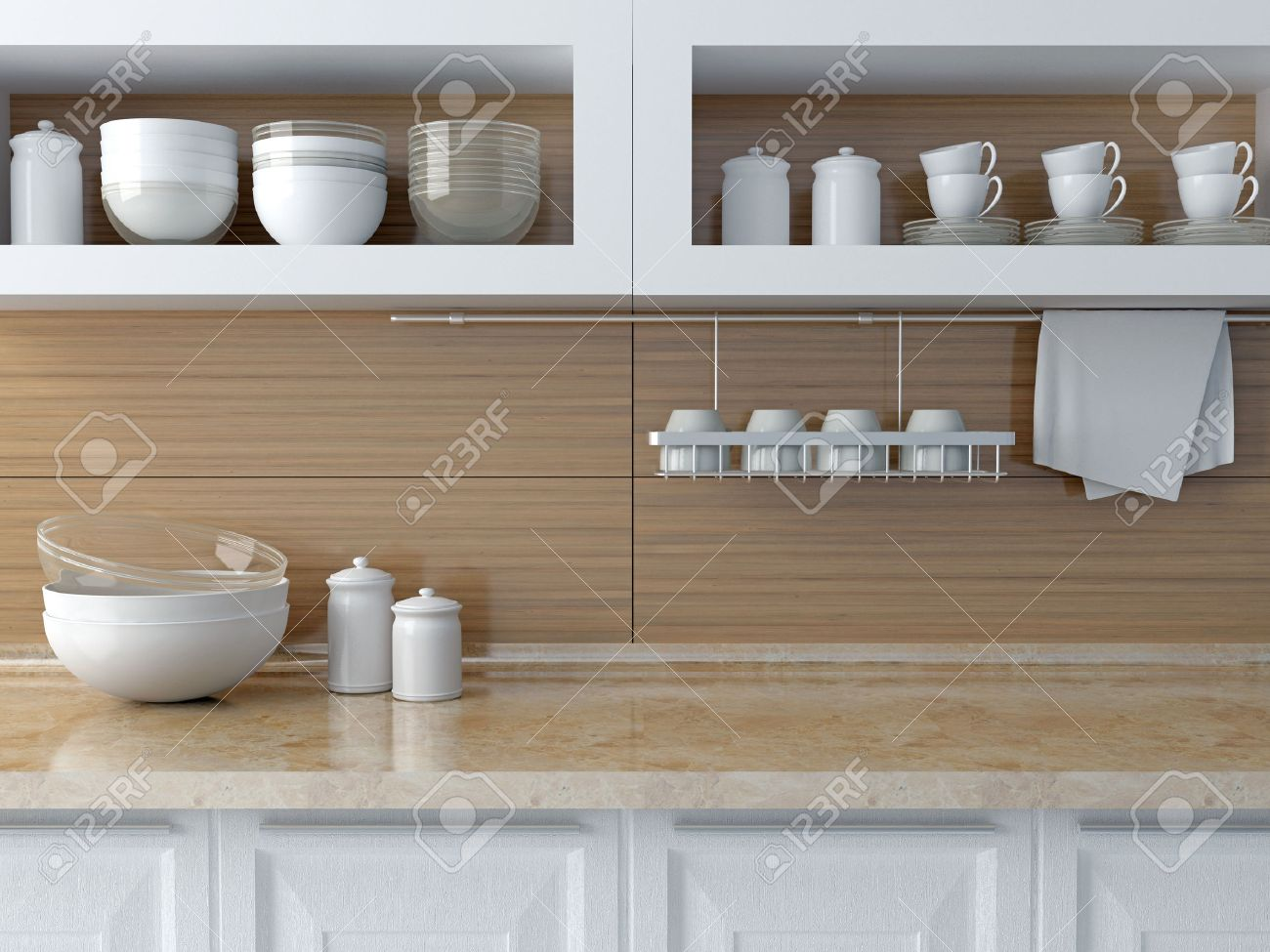 Geschirr Design Stock Photo