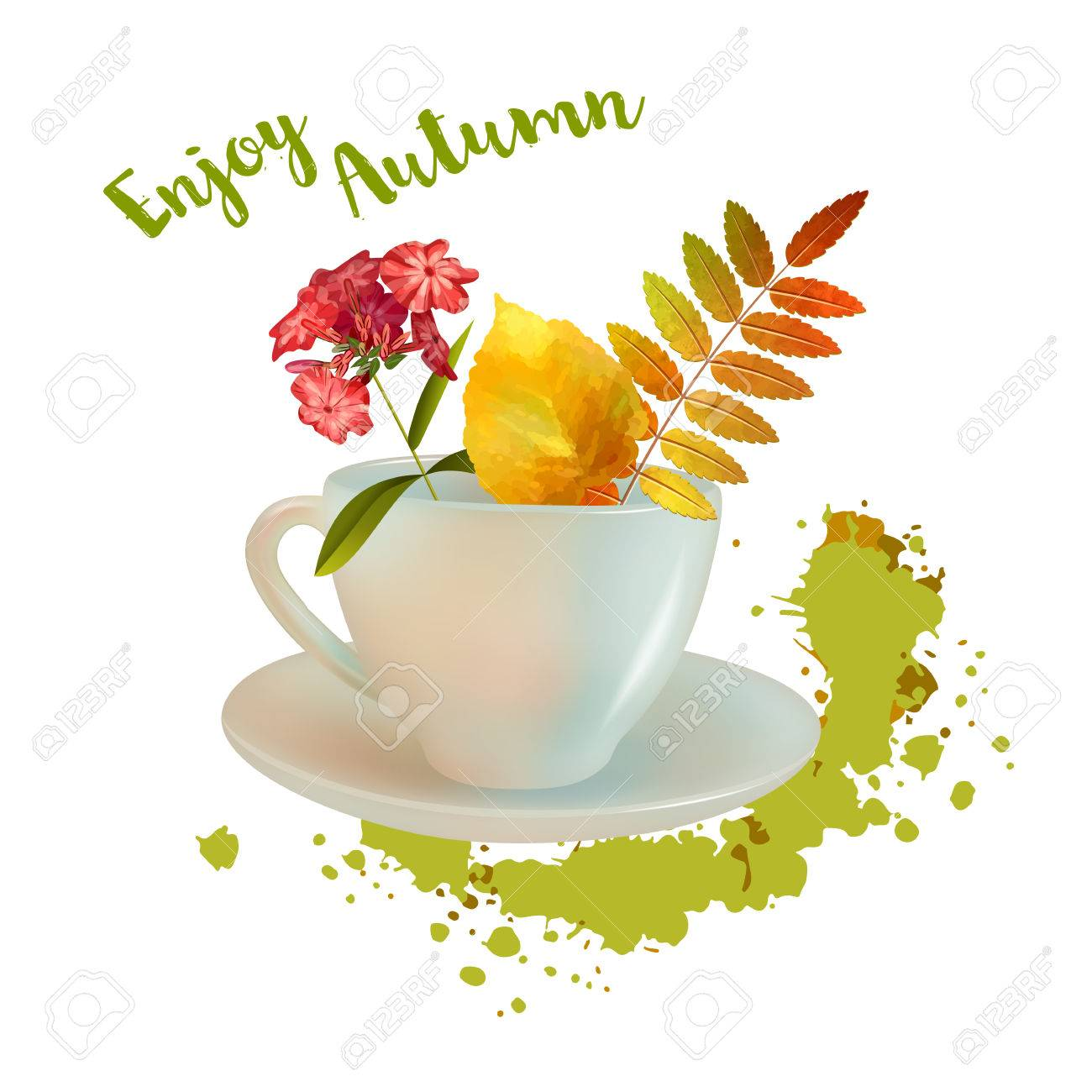 Tasse Blumen Stock Photo