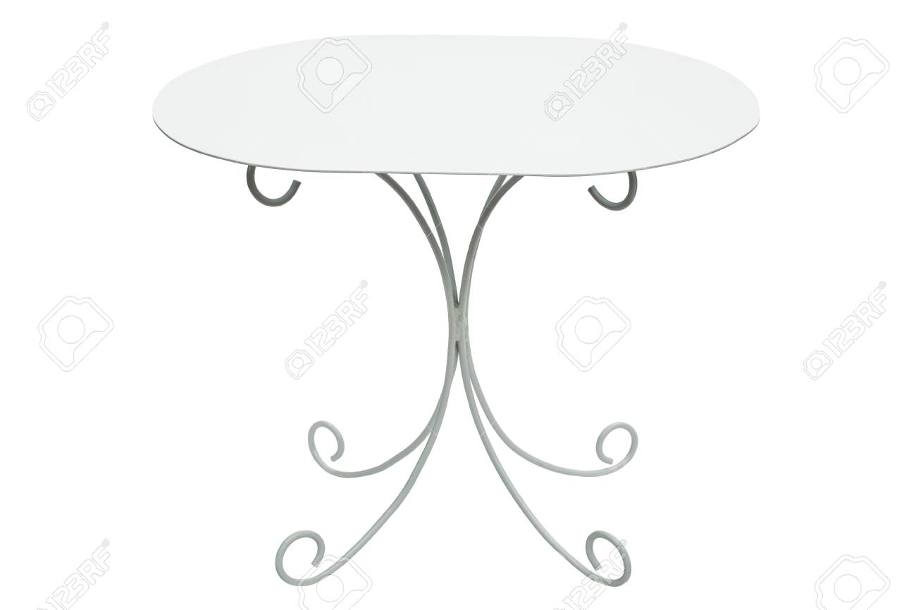 Table De Salon Ronde Blanche Table Basse Ronde Blanche Isolée Sur Fond Blanc