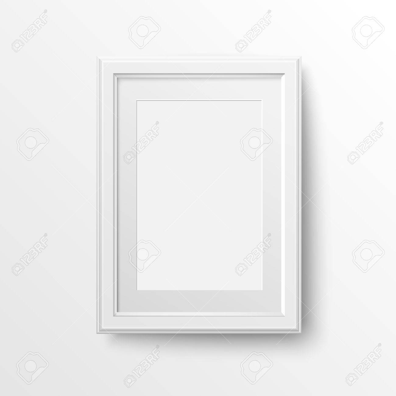 Foto Passepartout A3 And A4 Vertical Blank Picture Frame With Passepartout For