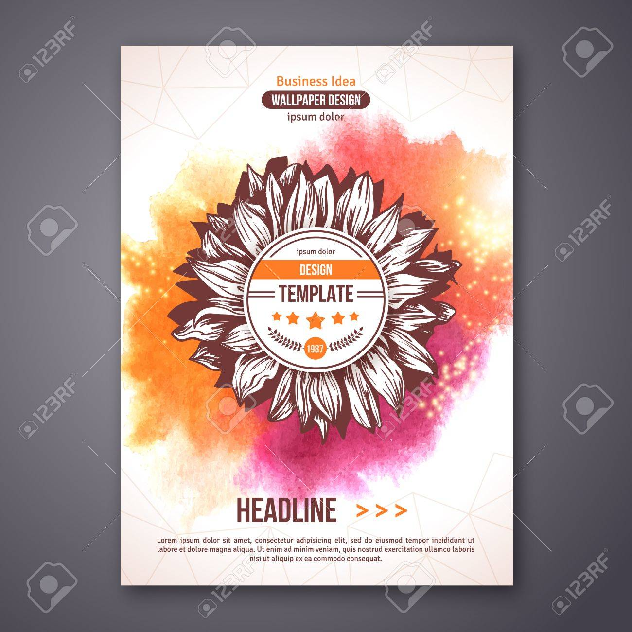 Flyer Ideas Poster Or Flyer Template With Watercolor Paint Abstract Background