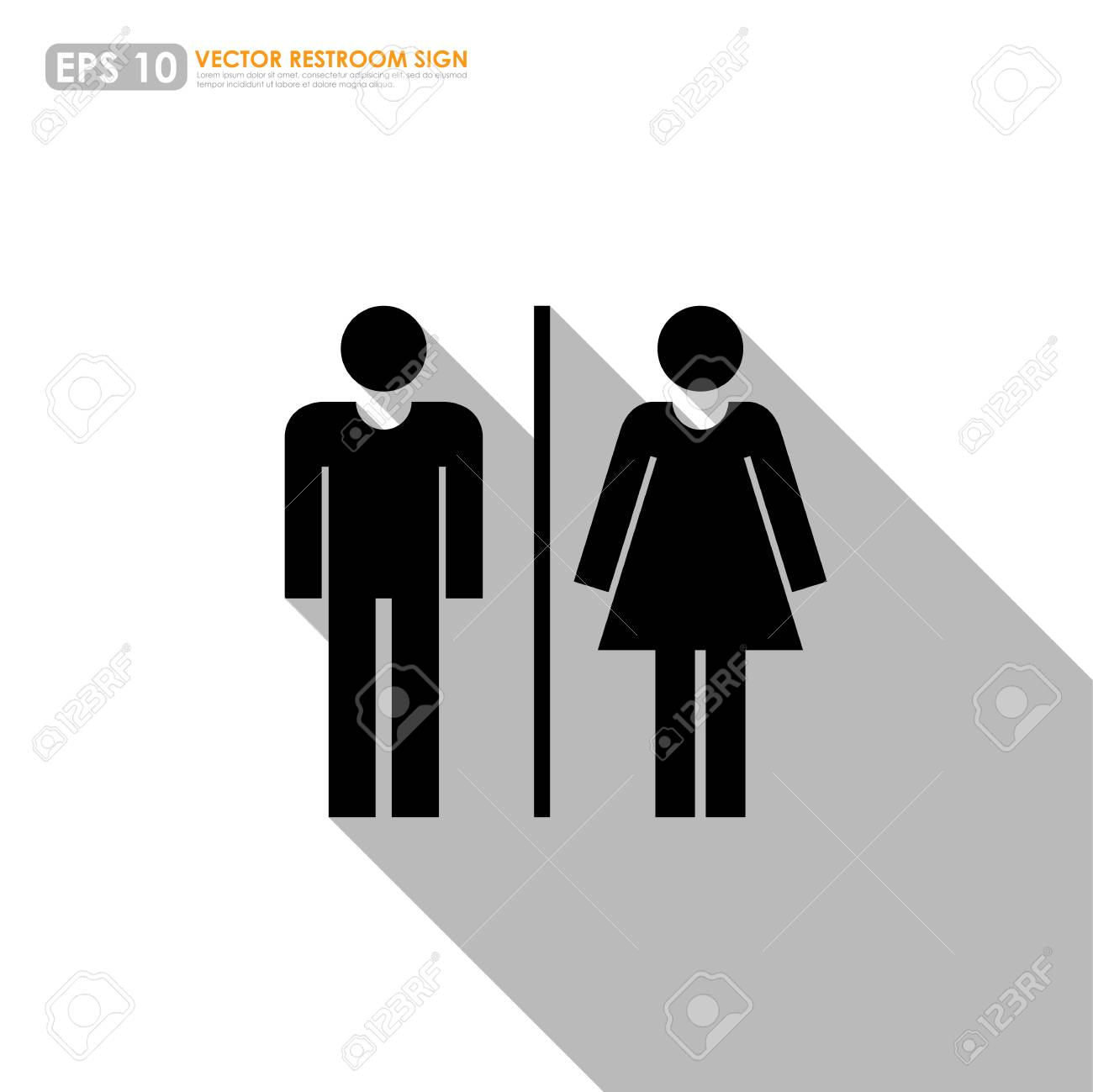 Wc Oder Toilette Stock Photo