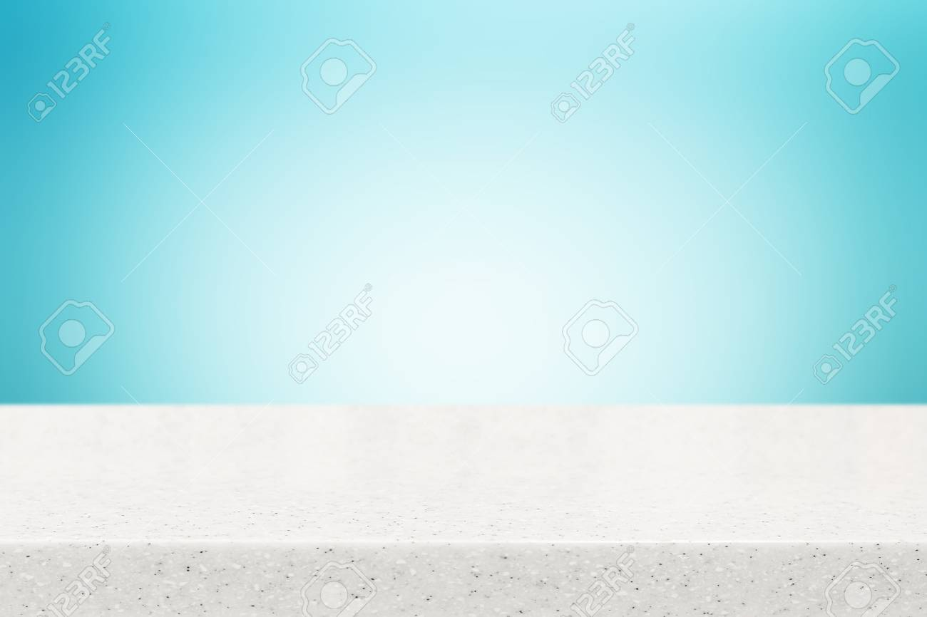 Arbeitsplatte Blau Stock Photo