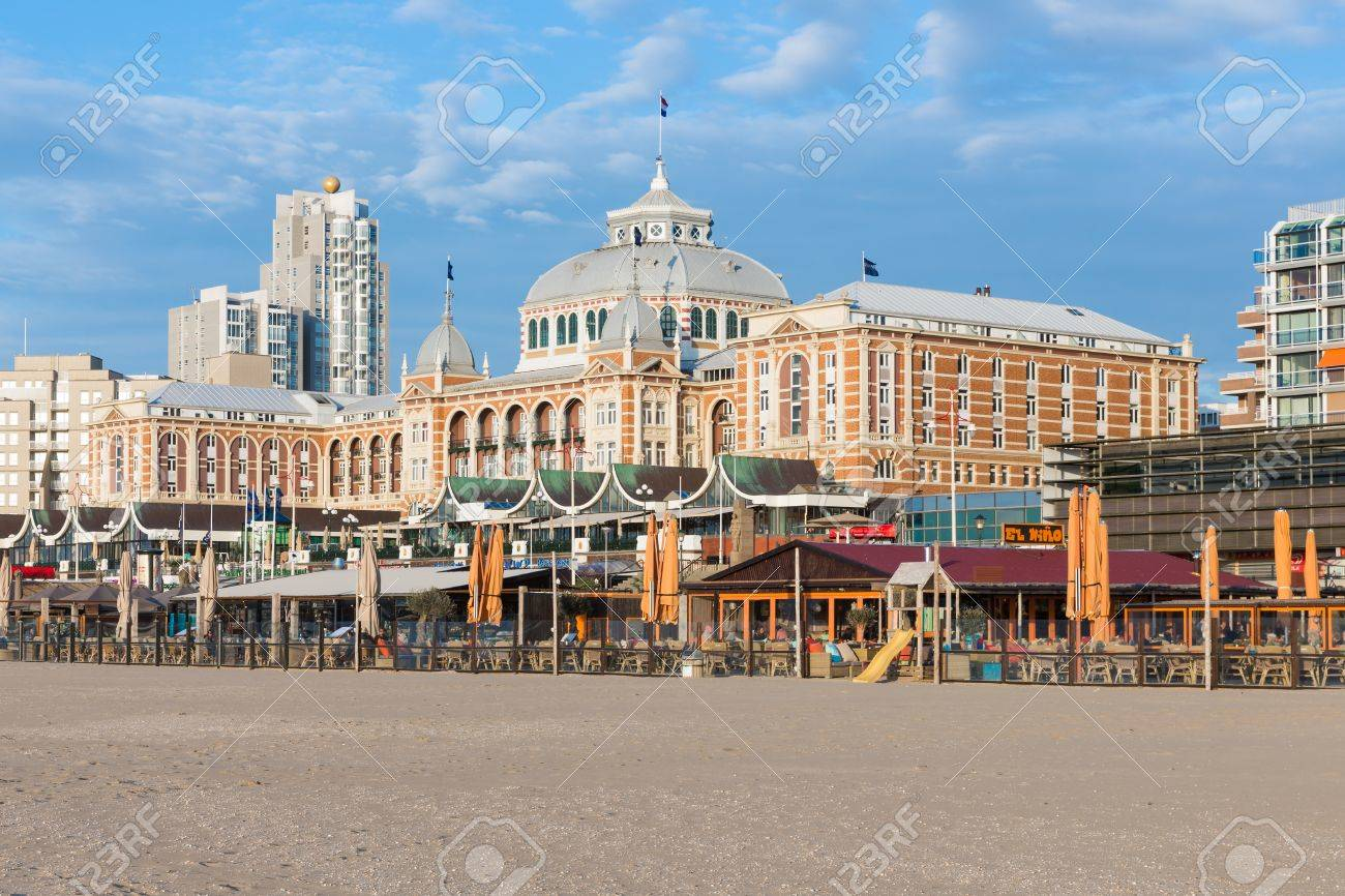 Scheveningen Beach Restaurants Stock Photo