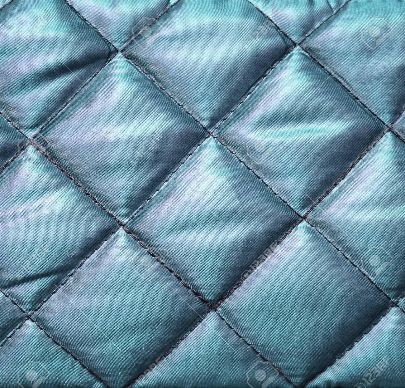 Quilted Fabric Blue Silk Quilted Fabric For Background