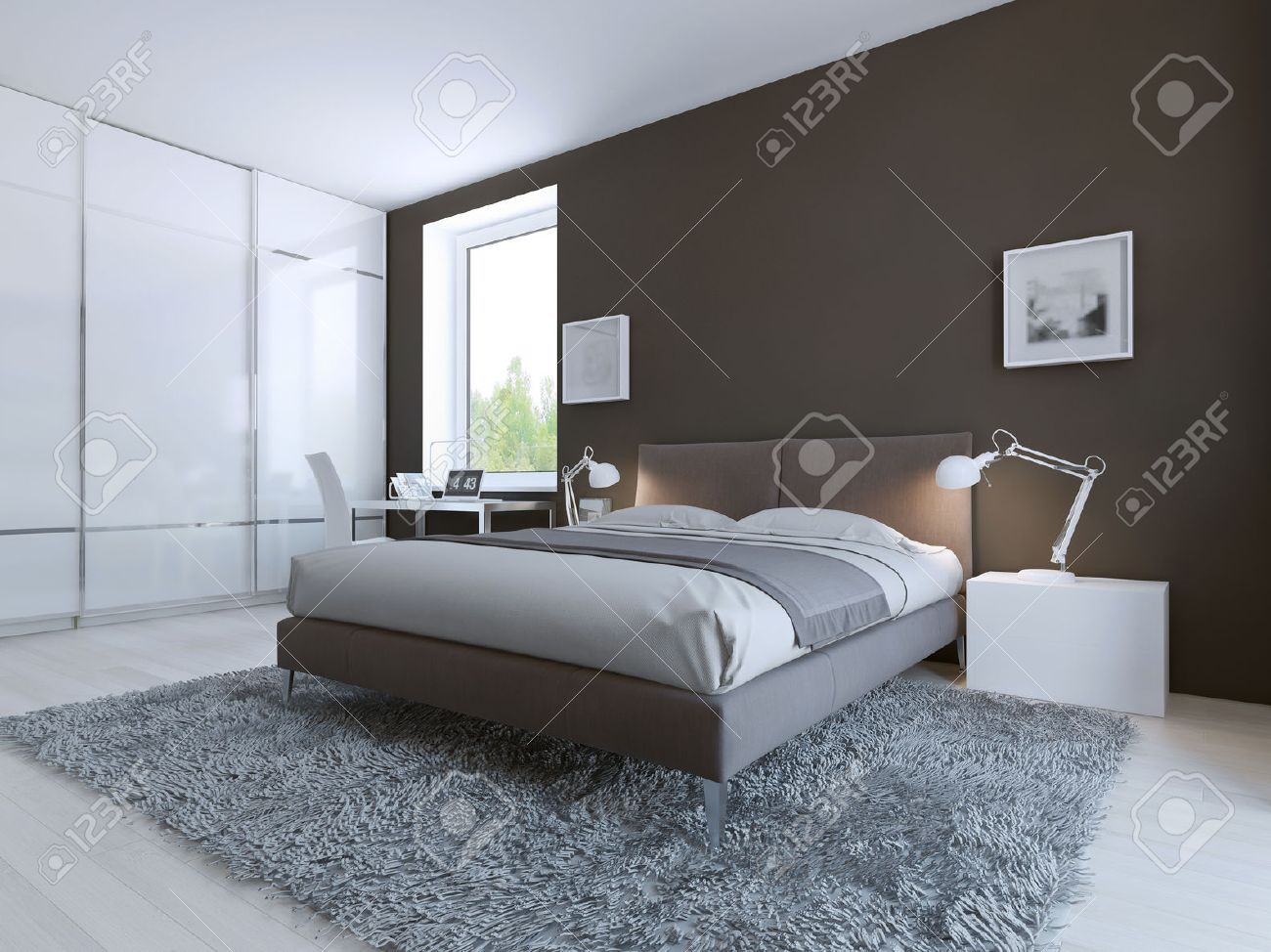 Schlafzimmer Bodenbelag Stock Photo